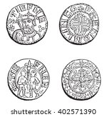 coins minted during the reign... | Shutterstock .eps vector #402571390