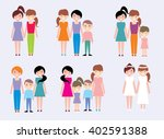 happy homosexual family  gay... | Shutterstock .eps vector #402591388