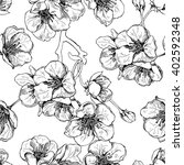 seamless pattern with flowers... | Shutterstock .eps vector #402592348