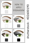 make up tutorial set   stages... | Shutterstock .eps vector #402600190