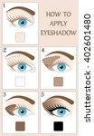 make up tutorial set   stages... | Shutterstock .eps vector #402601480