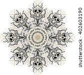 monstrous mandala of skulls and ... | Shutterstock .eps vector #402603190