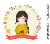 happy mothers day card with... | Shutterstock .eps vector #402608530
