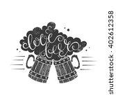 love beer handdrawn vector... | Shutterstock .eps vector #402612358