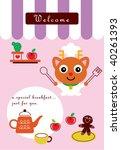 reindeer kitchen | Shutterstock .eps vector #40261393