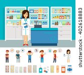 pharmacy infographic elements... | Shutterstock .eps vector #402618883