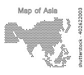map of asia dot | Shutterstock .eps vector #402622003
