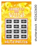 an illustration of a lottery... | Shutterstock .eps vector #402622600