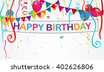 birthday decoration background    Shutterstock .eps vector #402626806