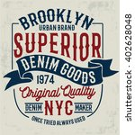 vintage denim label design  t... | Shutterstock .eps vector #402628048