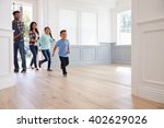 hispanic family viewing... | Shutterstock . vector #402629026