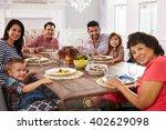 extended hispanic family... | Shutterstock . vector #402629098