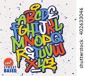 handlettering graffiti font | Shutterstock .eps vector #402633046