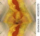 kaleidoscope hand painted... | Shutterstock . vector #402633370