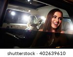 two women in the back of a limo ... | Shutterstock . vector #402639610
