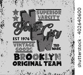 sport t shirt  nyc vintage... | Shutterstock .eps vector #402640600