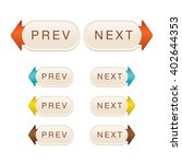 web elements vector button set. ...   Shutterstock .eps vector #402644353
