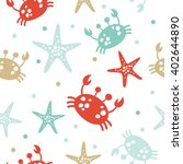 cute hand drawn texture  marine ...   Shutterstock .eps vector #402644890