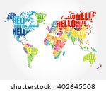 hello word cloud world map in... | Shutterstock .eps vector #402645508