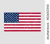 american flag with grunge... | Shutterstock .eps vector #402652543