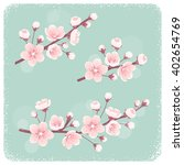 cherry blossom  spring branches ... | Shutterstock .eps vector #402654769