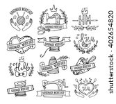 set of hand drawn logos for... | Shutterstock .eps vector #402654820