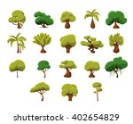 Tropical Trees Video Game Flat...