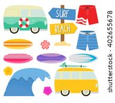 surfing on the beach   holiday... | Shutterstock .eps vector #402655678