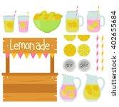 fun lemonade stand | Shutterstock .eps vector #402655684
