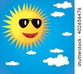 vector isolated character sun | Shutterstock .eps vector #402656476