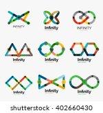 vector infinity logo set  flat... | Shutterstock .eps vector #402660430