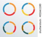 circle arrows set. circle... | Shutterstock . vector #402661180