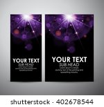 abstract purple bokeh on... | Shutterstock .eps vector #402678544