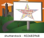 streaming movies indicating... | Shutterstock . vector #402683968