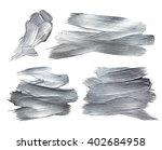 silver iron foil stroke. silver ... | Shutterstock . vector #402684958