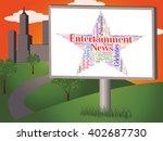 entertainment news meaning... | Shutterstock . vector #402687730
