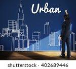 urban architecture construction ... | Shutterstock . vector #402689446