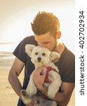 attractive caucasian man is...   Shutterstock . vector #402702934