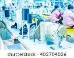 labor force work in the garment ... | Shutterstock . vector #402704026