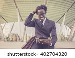 african businessman working... | Shutterstock . vector #402704320
