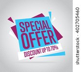 special offer sale tag discount ... | Shutterstock .eps vector #402705460