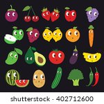 set of fruits and vegetables... | Shutterstock .eps vector #402712600