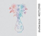 flowers and vase  | Shutterstock .eps vector #402712900