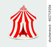 red and white circus tent icon | Shutterstock .eps vector #402719206
