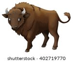 cartoon animal   bison  ... | Shutterstock . vector #402719770
