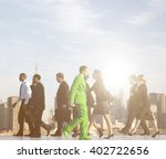 office workers walking to their ... | Shutterstock . vector #402722656