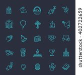easter icons set. christianity... | Shutterstock .eps vector #402722659