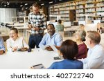 meeting sharing brainstorming... | Shutterstock . vector #402722740