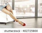 shop interior and woman legs... | Shutterstock . vector #402725800