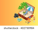 flat vector web banner on the... | Shutterstock . vector #402730984